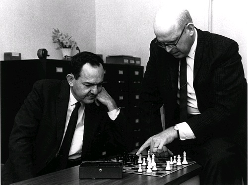 Aritificial Intelligence pioneers Allen Newell (right) and Herbert Simon
