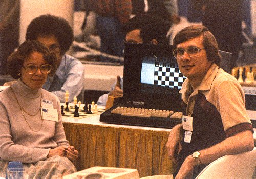 Kathe and Dan Spracklen at the 9th ACM North American Computer Chess Championship, Washington, DC