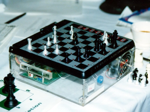 Fidelity X chess computer at the 6th World Chess Championship in Edmonton, Alberta
