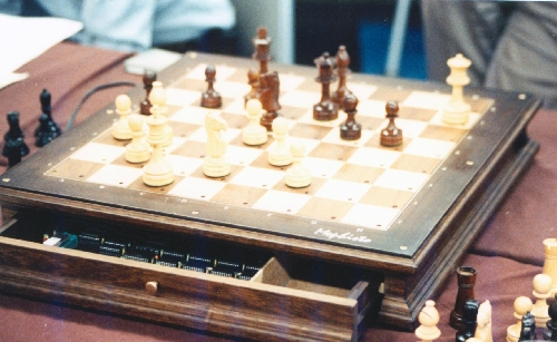 Mephisto X computer chess board at the 20th ACM North American Computer Chess Championship in Reno, Nevada