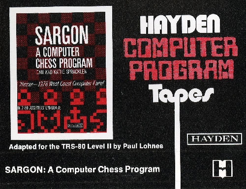 Sargon: A Computer Chess Program