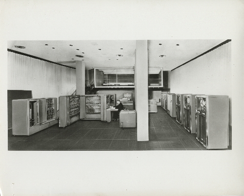 IBM 704 Electronic Data Processing System installed at IBM World Headquarters, 590 Madison Avenue, New York, NY