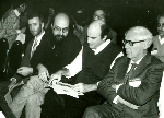 Beal, Thompson, Newborn, and Botvinnik at 4th World Computer Chess Championship in New York City, New York