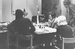 Rubin and Slate at 1st World Computer Chess Championship in Stockholm