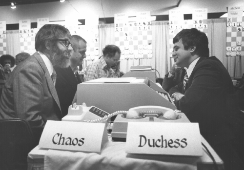 Chaos vs. Duchess at the 10th ACM North American Computer Chess Championship in Detroit, Michigan