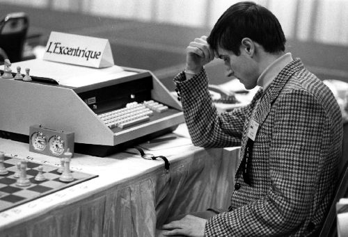Man playing L'Excentrique at 10th North America Computer Chess Championship in Detroit, Michigan