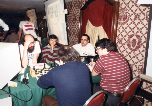 Thompson, Friedel, Condon, Slate, and Blanchard at the 4th World Computer Chess Championship in New York City, New York