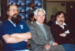 Thompson, Shannon, and Slate at the 6th World Computer Chess Championship in Edmonton, Alberta
