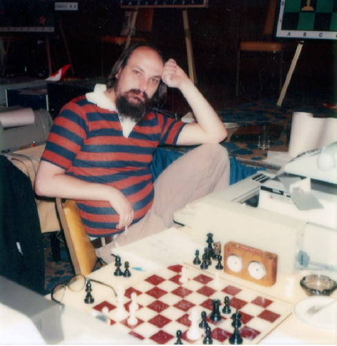 Thompson at the 13th ACM North American Computer Chess Championships in Dallas, Texas