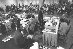 Game room at the 10th ACM North American Computer Chess Championship in Detroit, Michigan
