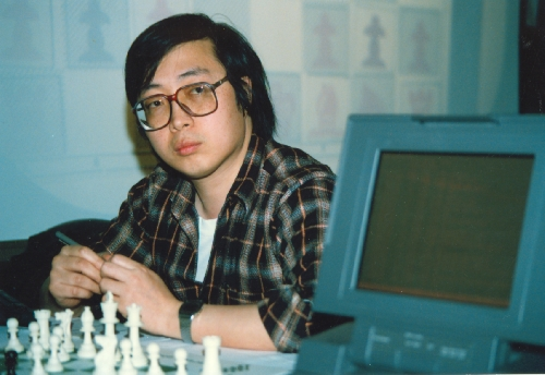 Feng-Hsiung Hsu, Deep Thought co-developer, at the 1989 World Computer Chess Championships in Edmonton, Alberta