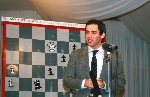 Garry Kasparov analyzes gameplay after the 1989 match against IBM's Deep Thought at the New York Academy of Art
