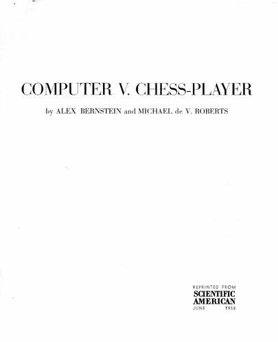 Computer V. Chess-Player