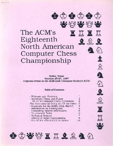 The ACM's Eighteenth North American Computer Chess Championship
