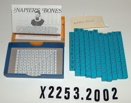 "Replica of ""Napier's Bones"" multiplication device 