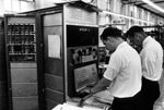 DEC engineers performing checkout of PDP-1 system