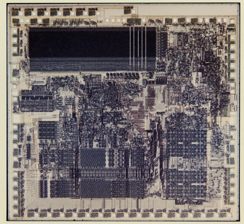 National Semiconductor NS32032 die shot | Computer History Museum
