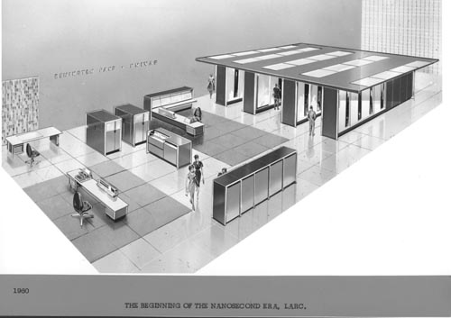 Univac Scale Drawing Of Larc 102722581 Computer