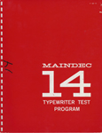 MAINDEC 14 Typewriter Test Program