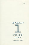 PDP-1 Price List