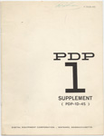 PDP-1 Supplement (PDP-1D-45)