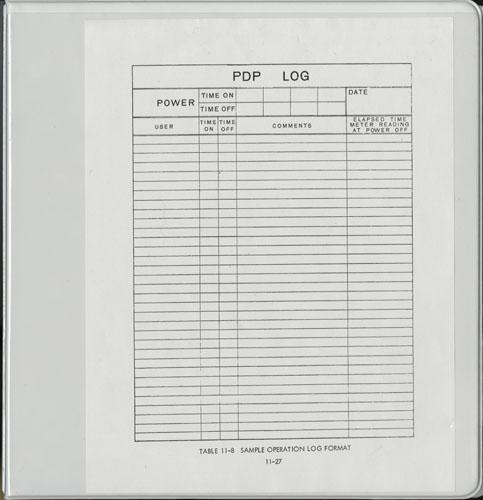 pdp 1 restoration project operations log book i 102640325