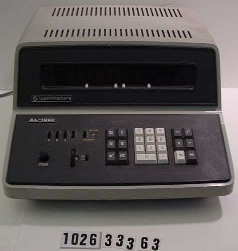 Commodore AL-1000 Desktop Calculator