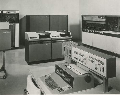 IBM 1460 system with IBM 1403 printer and 1311 drives